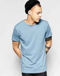 Голубая меланжевая футболка Weekday - Синий