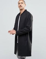 Длинное черное пальто Weekday Tide - Черный