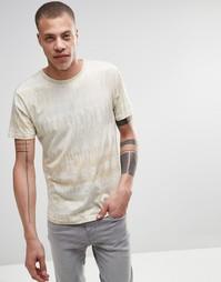 Бежевая футболка с камуфляжным принтом Weekday Jones - Бежевый