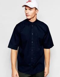 Темно-синяя свободная рубашка с короткими рукавами Weekday Pointbreak - Темно-синий