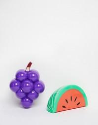 Два бальзама для губ с ароматом фруктов - виноград и арбуз - Бесцветный Beauty Extras