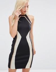 Платье миди с цепочкой Forever Unique Devi - Черный
