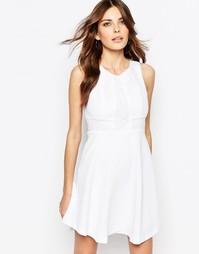 Белое платье с кружевной вставкой BCBGeneration - Белый