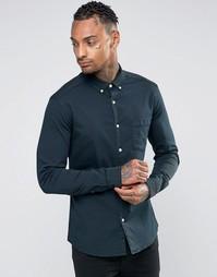 Черная джинсовая рубашка суперузкого кроя ASOS - Черный