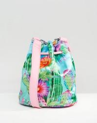Атласная сумка с кактусами Jaded London - Мульти