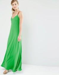 Платье макси с перекрещивающимися лямками сзади Ted Baker Desile - Зеленый