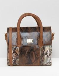 Миниатюрная сумка-тоут со съемным ремешком через плечо Urbancode - Коричневый