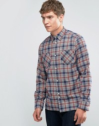 Рубашка в клетку с двумя карманами Bellfield - Синий