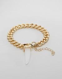 Браслет-цепочка с кристаллом Ashiana - Золотой