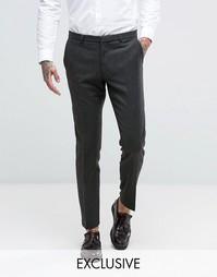 Супероблегающие брюки с узором гусиная лапка Heart & Dagger - Зеленый