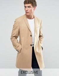 Строгое приталенное пальто Noak - Рыжий