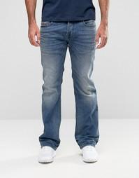 Светлые джинсы с легким клешем Diesel Zatiny 857N - Синий