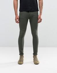 Супероблегающие джинсы цвета хаки Liquor & Poker - Зеленый