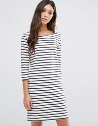 Цельнокройное платье в полоску Ganni Old Spice - Белый
