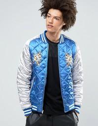 Стеганая атласная куртка Billionaire Boys Club Vegas Souvenir - Синий