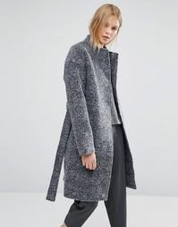 Шерстяное пальто Native Youth - Темно-синий
