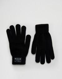 Черные перчатки Nicce - Черный