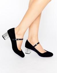 Декорированные туфли на среднем каблуке Carvela Greatest Mary Jane - Синий