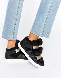Высокие кроссовки с меховой отделкой Carvela Lovely - Черный