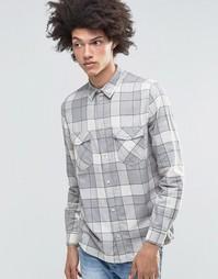 Серая фланелевая рубашка в клетку Weekday - Серый