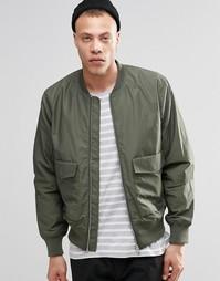 Куртка-пилот цвета хаки Weekday Boo - Зеленый