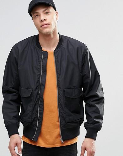 Черная куртка-пилот Weekday Boo - Черный