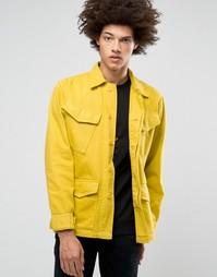 Джинсовая куртка в стиле милитари Weekday Field - Бежевый