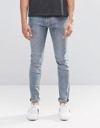 Голубые супероблегающие джинсы Weekday - Синий