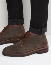 Замшевые ботинки чукка Rule London - Черный