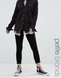 Черные джинсы с необработанными краями Noisy May Petite Paris - Черный