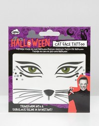 Тату мордочка кошки на Хэллоуин NPW - Мульти