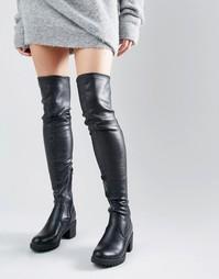 Ботфорты на массивном каблуке Glamorous - Черный
