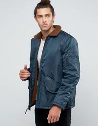 Куртка-пилот с меховой подкладкой Brixton Colstrip - Темно-синий