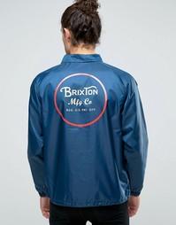 Спортивная куртка с принтом сзади Brixton Wheeler - Темно-синий