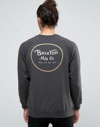 Свитшот с принтом логотипа сзади Brixton Wheeler - Черный