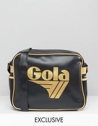 Черно-золотистая сумка почтальона Gola Classic Redford - Мульти