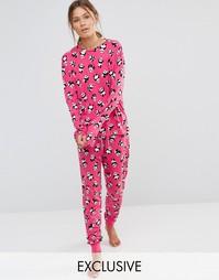 Пижамный комплект со штанами Chelsea Peers - Кремовый