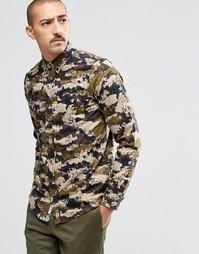 Рубашка классического кроя с камуфляжным принтом Carhartt WIP - Зеленый