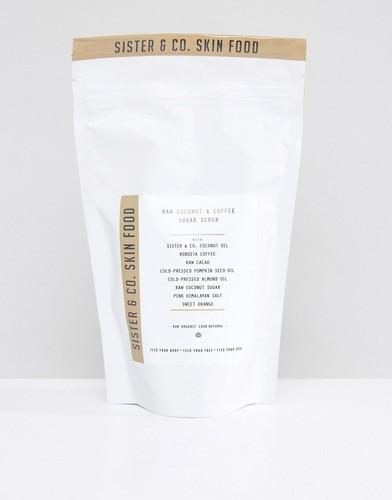 Сахарный скраб для тела Sister & Co Raw Coconut & Coffee - 300 г - Бесцветный