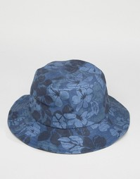 Панама с цветочным принтом Abercrombie & Fitch - Темно-синий