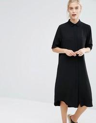 Платье-рубашка миди Monki - Бежевый