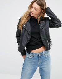 Байкерская куртка из искусственной кожи J.D.Y - Черный JDY