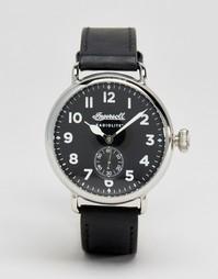 Кварцевые часы с черным кожаным ремешком Ingersoll Trenton Radiolikte - Черный