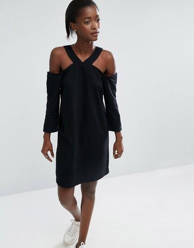 Джинсовое платье ASOS WHITE - Черный