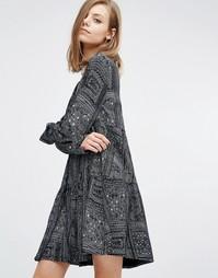 Свободное платье с геометрическим принтом Ba&sh Mimsy - Черный Ba&Sh
