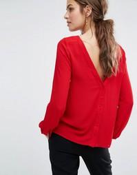 Блузка с пуговицами на спине Ba&sh Eliet - Красный Ba&Sh