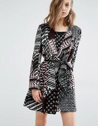Вязаное пальто‑кардиган Ba&sh Icare - Мульти Ba&Sh