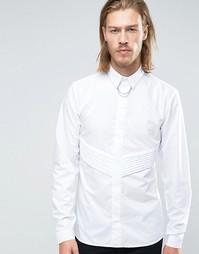 Узкая плиссированная юбка Rogues of London - Белый