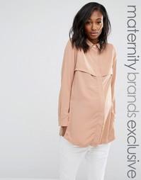 Удлиненная рубашка для беременных с боковыми разрезами Missguided Maternity - Фиолетовый