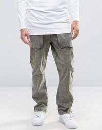 Прямые брюки с эффектом кислотной стирки ASOS - Зеленый